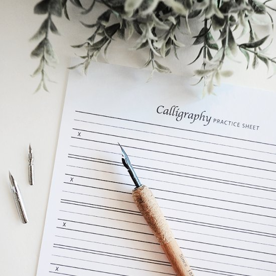 DIY Free Calligraphy Practice Sheet