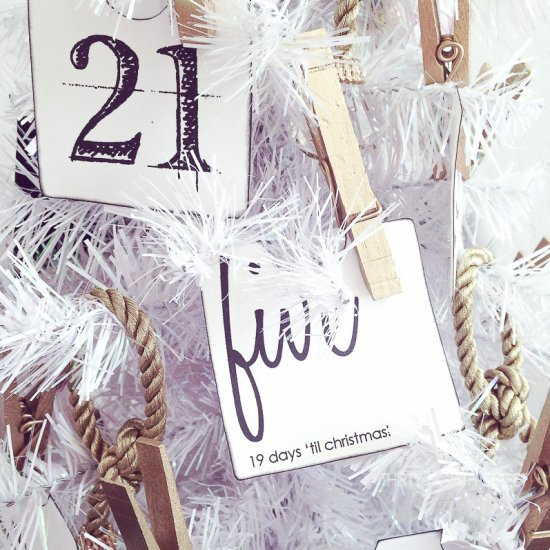 DIY Modern Christmas Advent Calendar