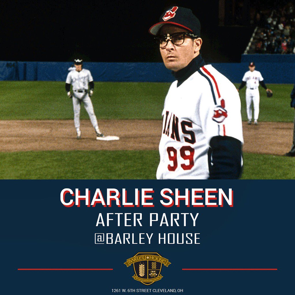 The rumors are true. See you tonight Cleveland fans! @charliesheen is heading in the celebrate with us! https://t.co/pjTBml0OiP