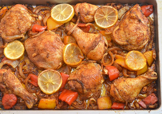 Roasted Chicken with Sweet Onions, no shortage of flavor here!