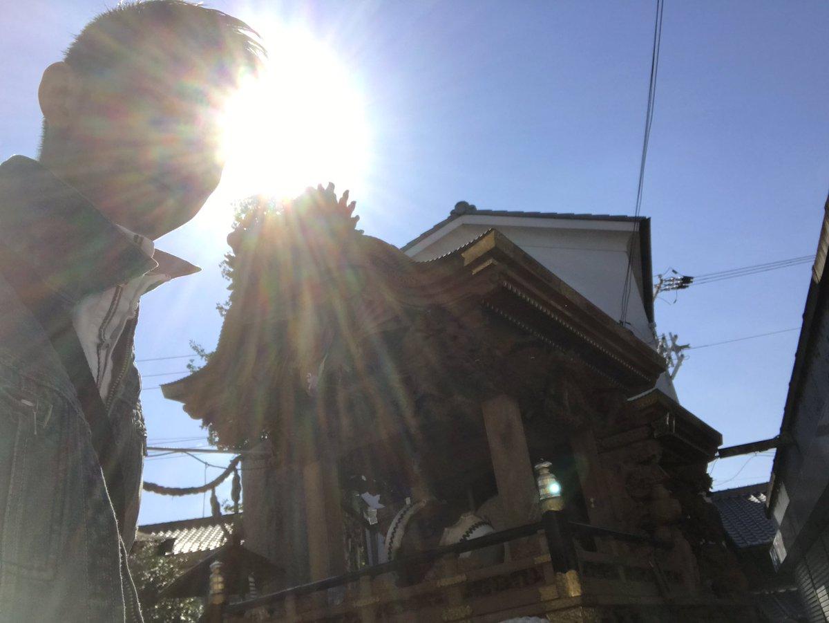 今日は朝からだんじり小屋へ。大阪城へ向けてやることがたくさんです。すごい逆光やけどまぁいいや(笑) だんじりin大阪城2016 だんじり 天王田pic.twitter.com/