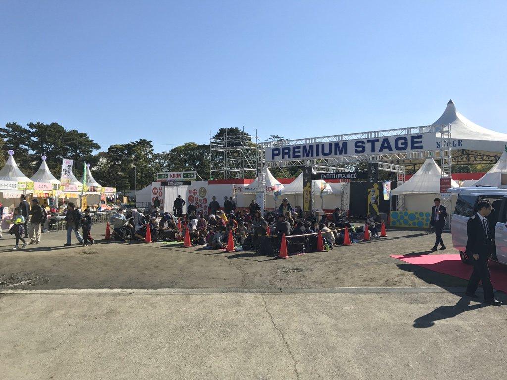 快晴になりました!25周年 大道芸ワールドカップin静岡2016いよいよスタートです。 駿府城公園、市街地など11時からパフォーマンスが始まります! #大道芸ワールドカップ https://t.co/3EtVO1vE7W