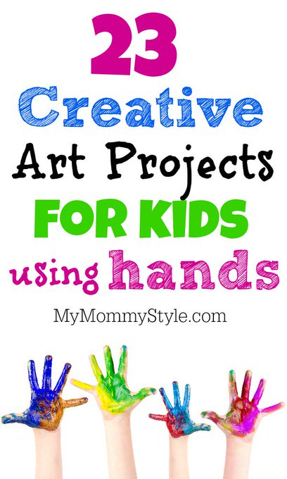 23 creative art projects for kids using handsKids mymmomystyle diy
