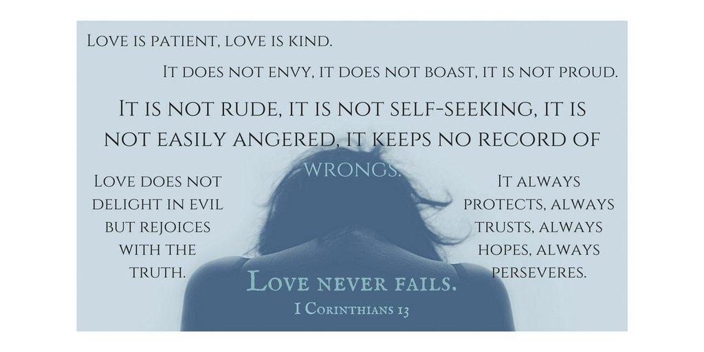 Love is patient, love is kind. It is not rude, it is not self-seeking...   #love  https://t.co/Y3BVXninSV #quote