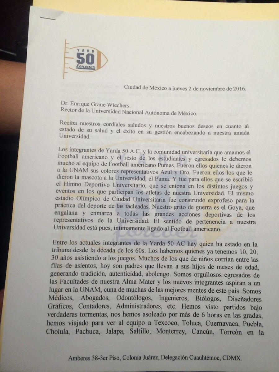 Esta es la copia de la carta que entregará @Yarda50_CU para pedir que #AbranCU https://t.co/izfZ39ojVU