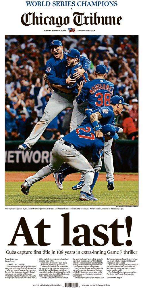 Make sure to pick up a copy tomorrow! #CubsWin https://t.co/Ji5XDsPham