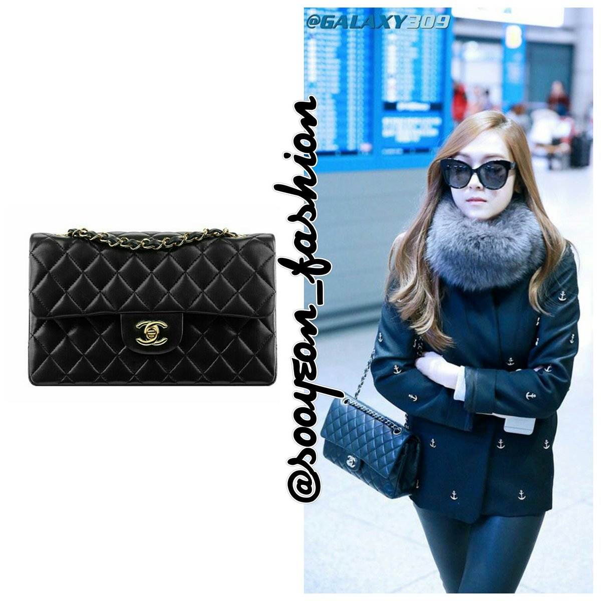 87fce923a02f 141124 Gimpo Airport CHANEL: Classic Medium Double Flap Bag (Black), ...