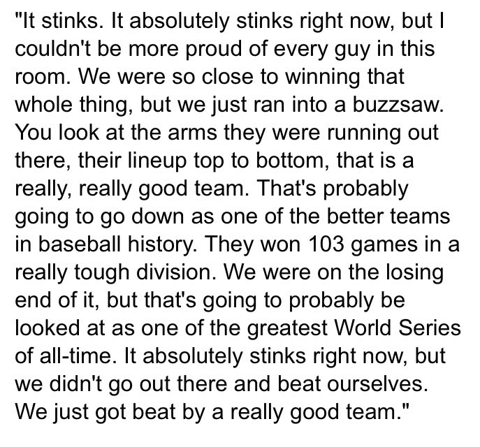 Some insightful postgame thoughts from Indians closer Cody Allen: https://t.co/SfXqNfSaIA