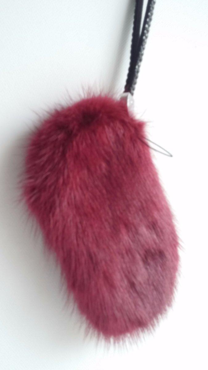 Pelz Taschenanhänger Bag Bug Tibetlamm neu braun Pelz Anhänger