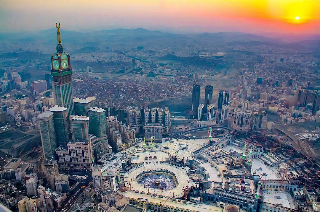Darussalamstore Com On Twitter An Amazing Aerial View Of Masjid Al Haram And Part Of Makkah City Makkah