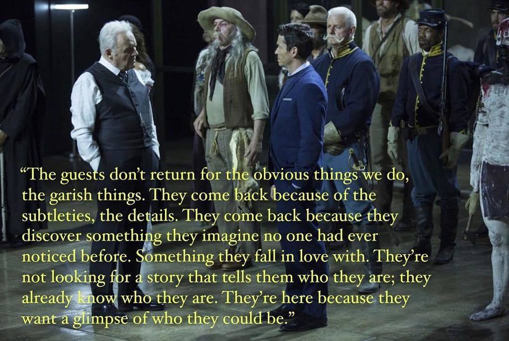 Inspiring words for game designers everywhere, via Anthony Hopkins #westworld https://t.co/cU3RzZYgaw https://t.co/q4i1QdFNQD