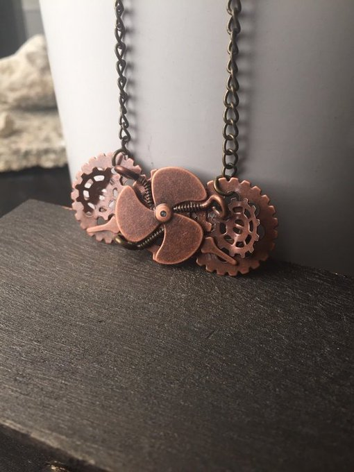 Steampunk Costume Jewelry Copper Steampunk Jewelry - Propeller.. craftshout fashion