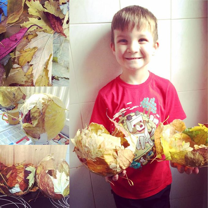 Breathing in the autumn air & making leaf bowls parenting crafts kidcrafts