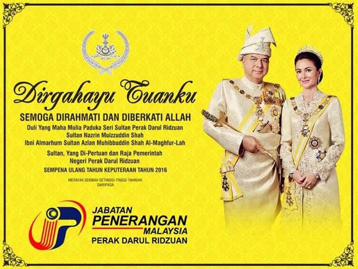 Aadk Negeri Perak On Twitter Esok 4 November 2016 Seluruh Negeri Perak Akan Cuti Umum Sempena Hari Keputeraan Sultan Perak Dymm Paduka Seri Sultan Perak Darul Ridzuan Https T Co Pbq2cqz58r