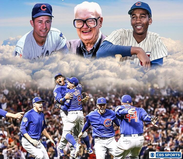 How sweet it is! Nice work @CBSSports @Cubs #CubsWin #CubsWin https://t.co/oBIsv9S90O