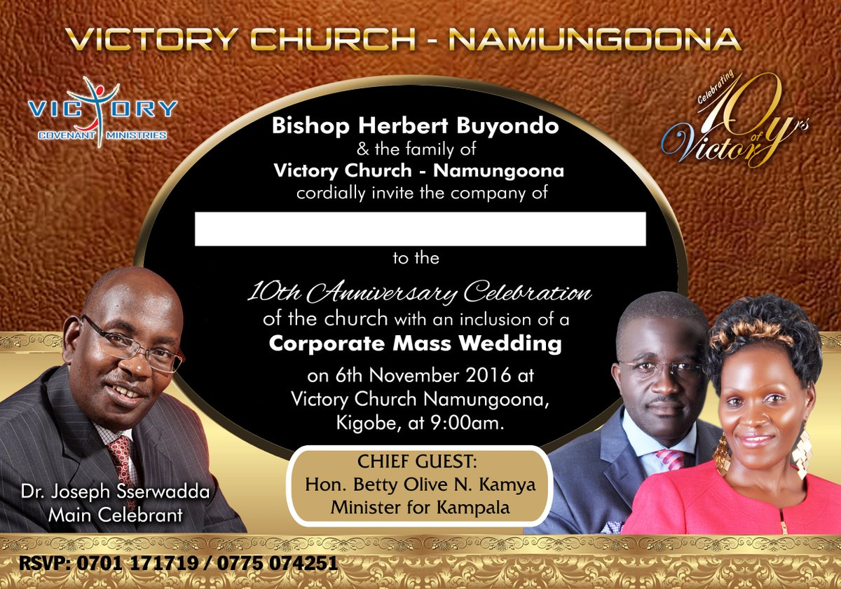 ntv uganda on twitter ad join victory church namungoona as they