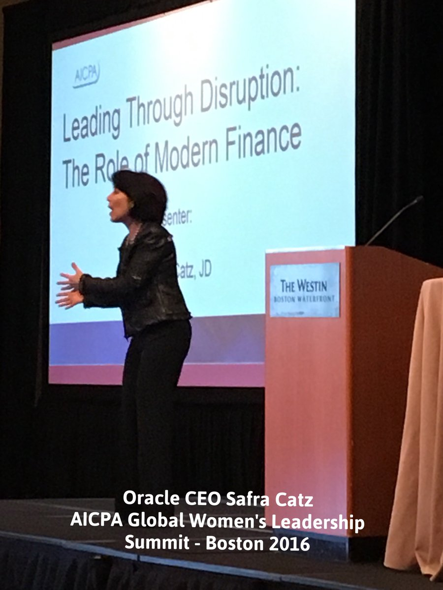 Don't think outside the box, don't even see the box! - Safra Catz #AICPAwomenlead https://t.co/hs1obIMWcr
