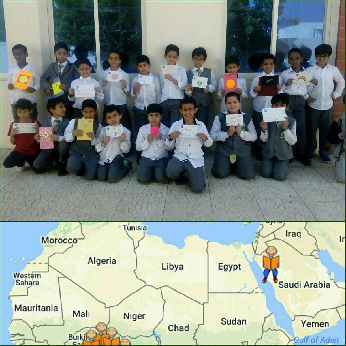 Cardz for kidz on twitter here are some kids at rawda cardz for kidz on twitter here are some kids at rawda international school in saudiaarabia with your cards we added a special symbol on the map on our biocorpaavc Choice Image