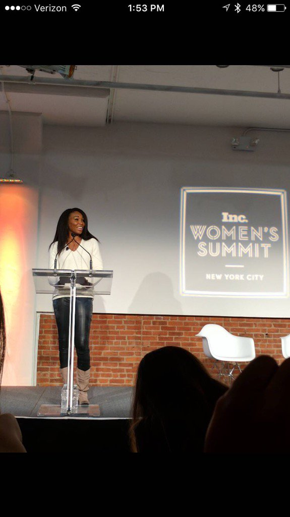 """Don't be afraid to surround yourself with people who are better than you."" -Venus Williams #IncWomen https://t.co/gknS824JHU"