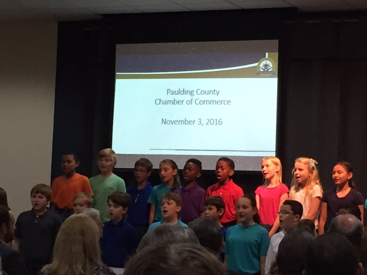"""Paulding County PE on Twitter: """"Great job by McGarity Elementary students  today as they entertained at the Paulding Chamber of Commerce meeting ..."""