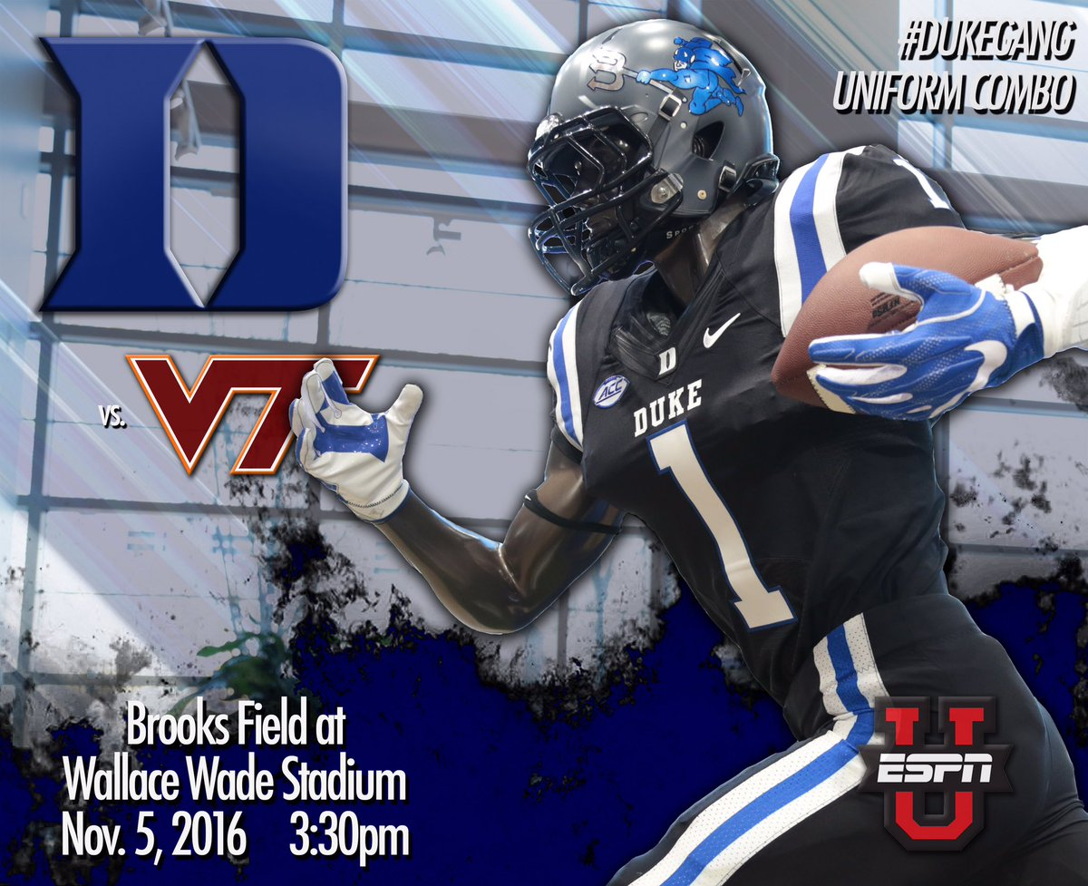 "86eef73c2ddd Duke will be wearing the ""Battleship Grey"" helmets with the black-on-black  uniforms."