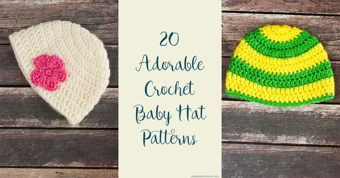 20 Adorable Free Crochet Baby Hat Patterns crochet DIY crafts