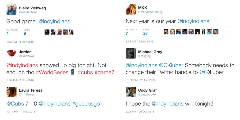 Now that the #WorldSeries is over, we'd like to thank everyone for tweeting us their support.  Maybe next year? https://t.co/EY7CiWTrq5