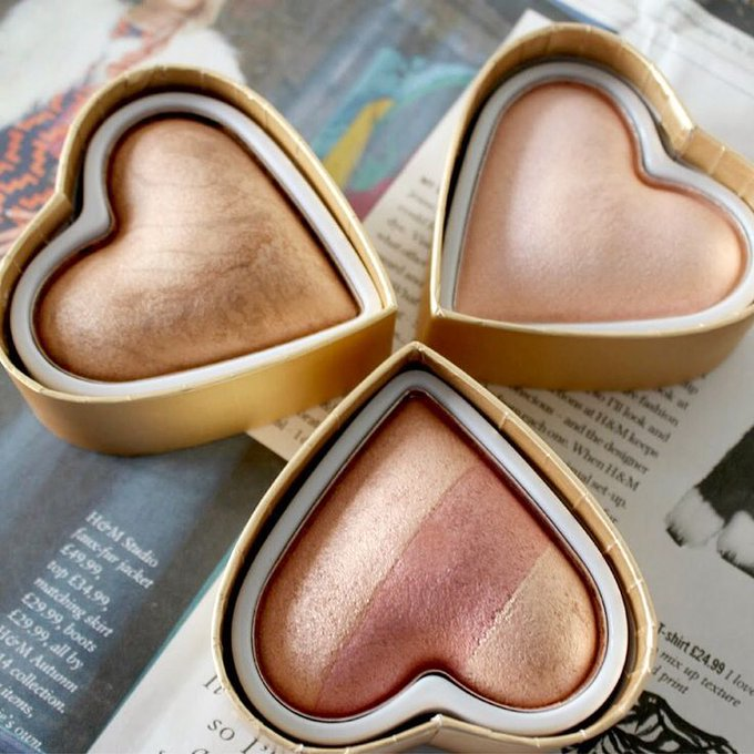 Makeup Ideas: Makeup Revolution blushing hearts! beautymakeup