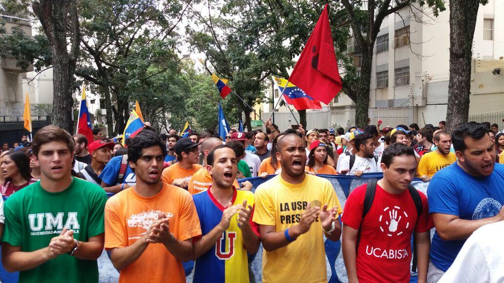 Resultado de imagen de marcha estudiantes venezuela