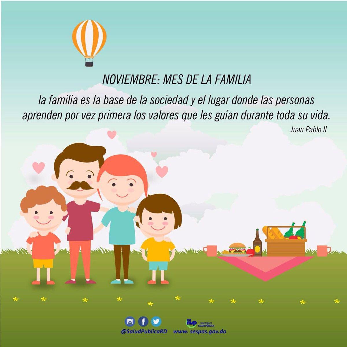"Salud Pública RD Twitterissä: ""Noviembre: Mes de la familia. ""La familia es  la base de la sociedad"". #JuanPabloII #saludpublicard… """