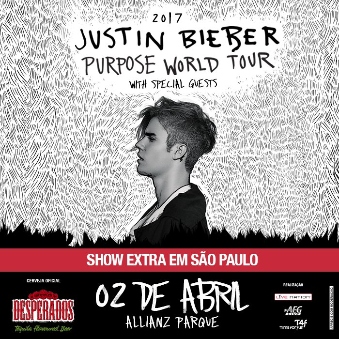 Justin Bieber fará show extra em São Paulo; saiba detalhes