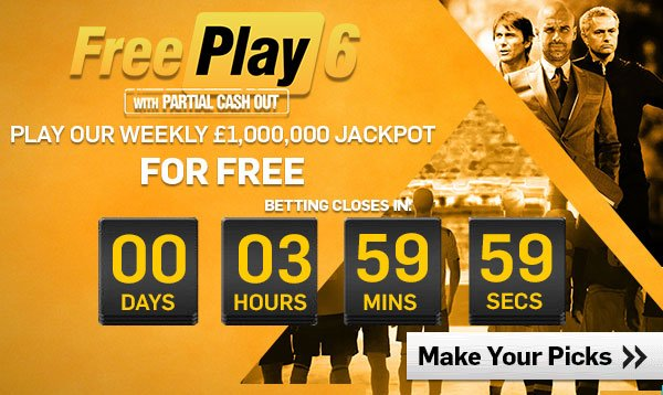 FreePlay 6 Tips and Prediction  Copy & Win £1 Million Weekly Jackpot
