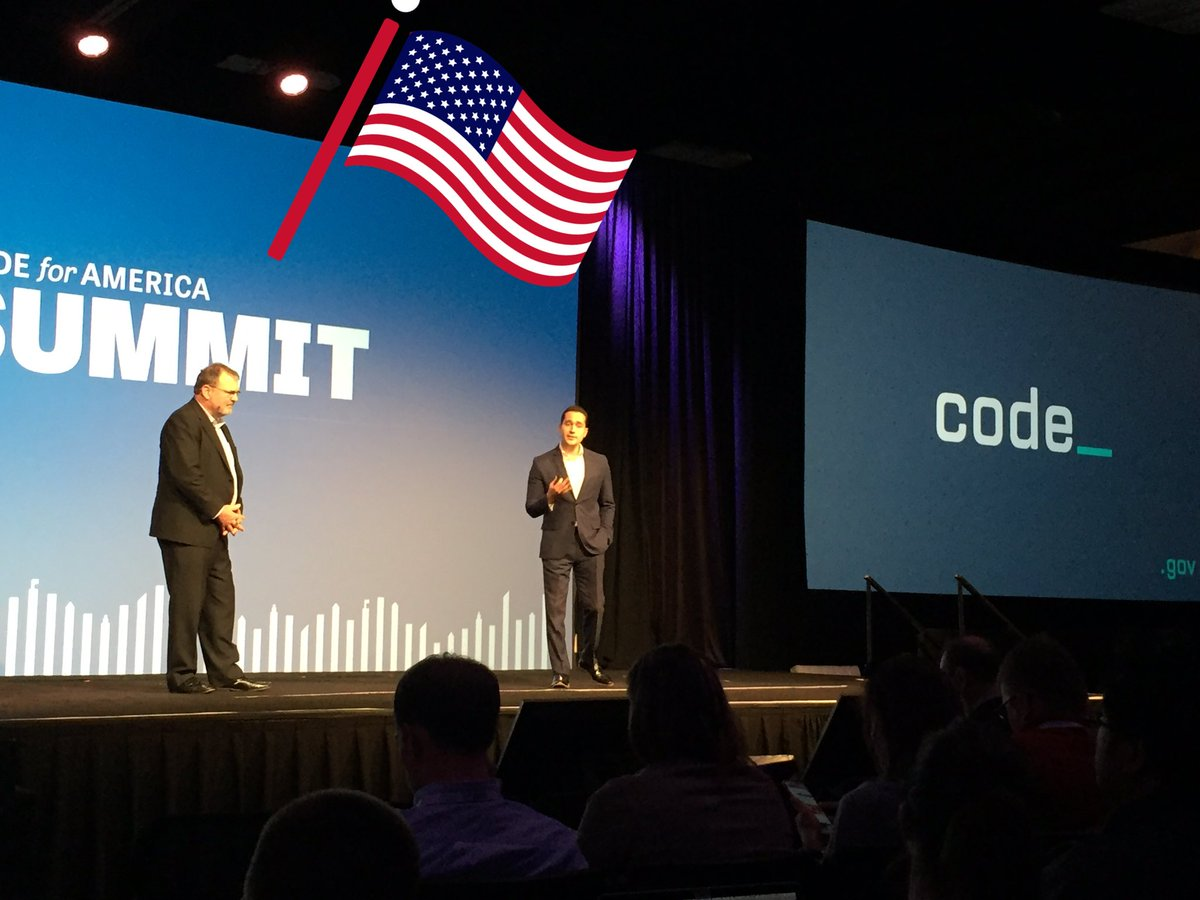 US CIO on stage at #cfasummit launching https://t.co/jHCHayDfV6. Take our code! Open source government FTW. https://t.co/FT1eks9DoY
