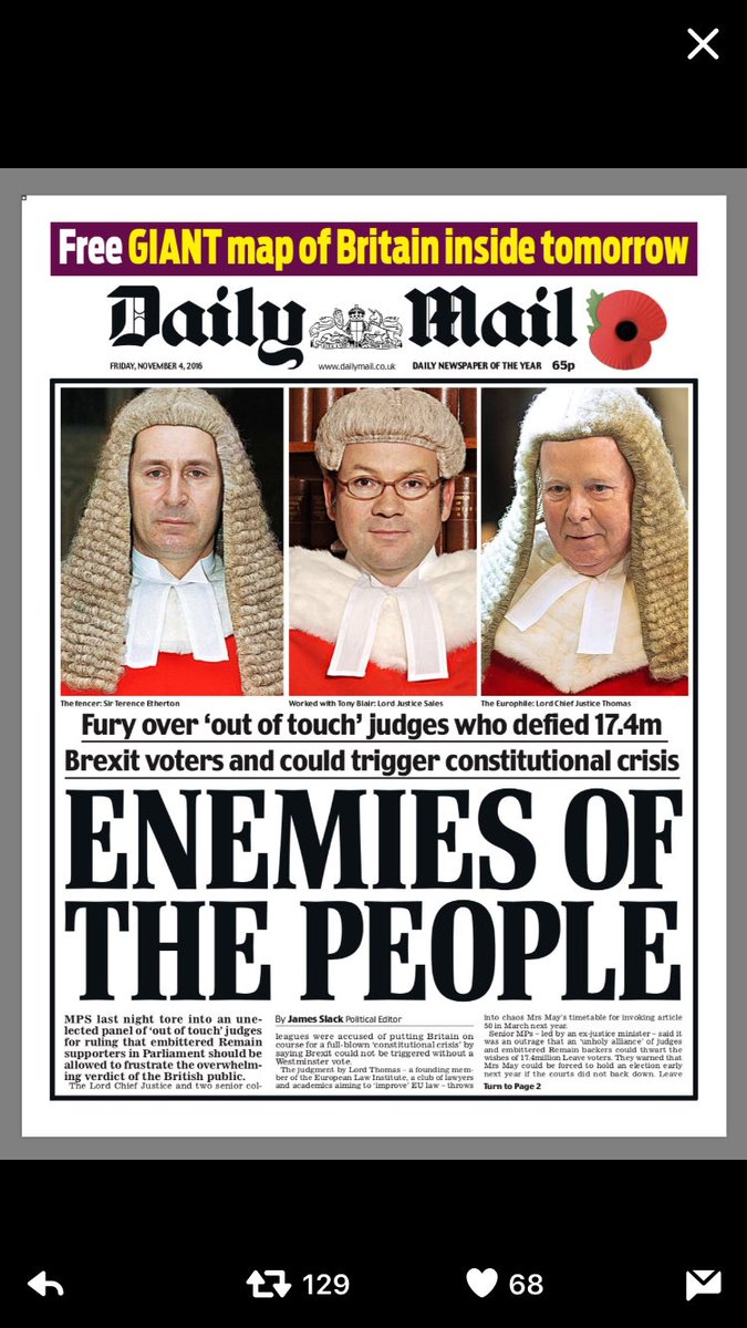 British newspapers react to judges' Brexit ruling ...