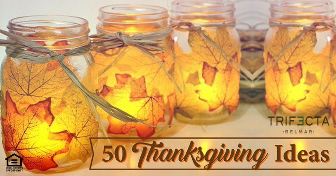 Check out these Thanksiving Ideas! TrifectaBelmar Ideas DIY Decor Crafts
