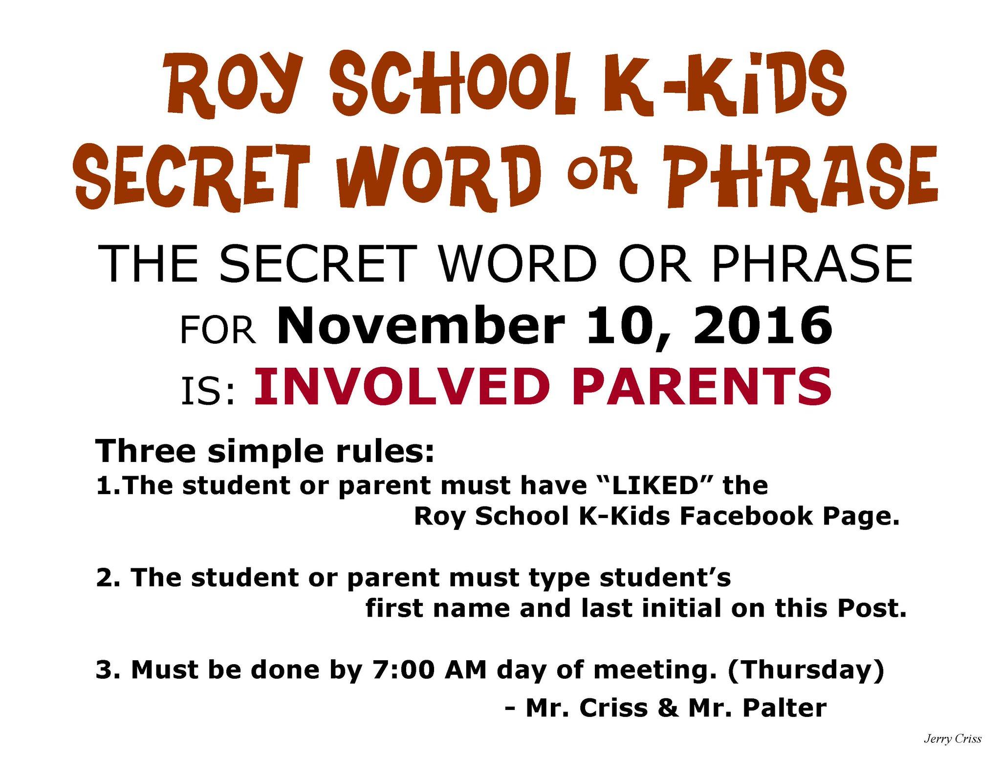Roy School K-Kids on Twitter: