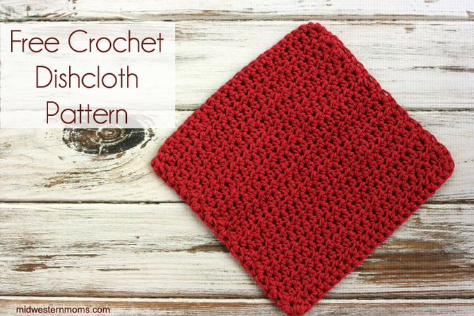 Free Crochet Dishcloth Pattern - crafts crochet DIY