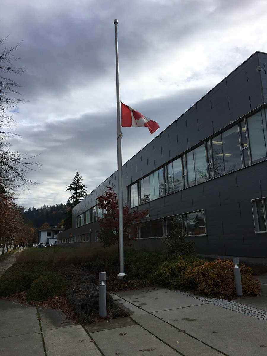 In sorrow and solidarity with all those mourning in #Abbotsford, UFV flags are at halfmast. @abbysenior #abbystrong. https://t.co/GAb6mObfba