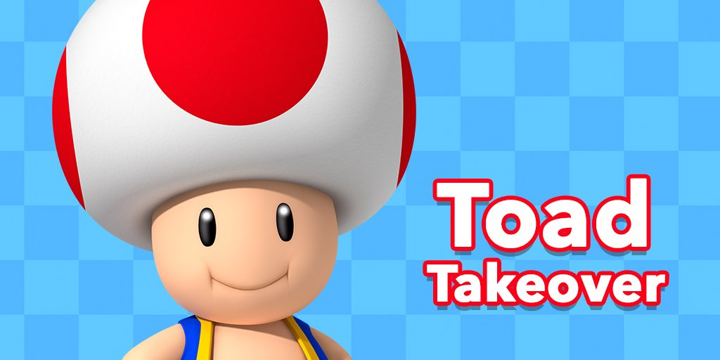 Hey everyone! It's me, Toad! I'm here to run Twitter for the next hour! Let's have fun!