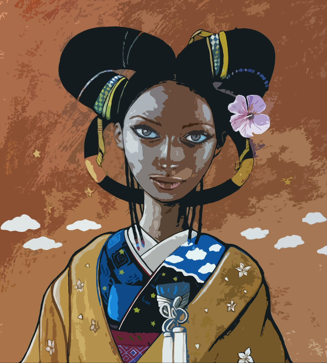 Anime version of my painting: American Geisha No. 1 #art #fineart #painting #anime #manga #geisha #kimono https://t.co/eTb61zUAFg