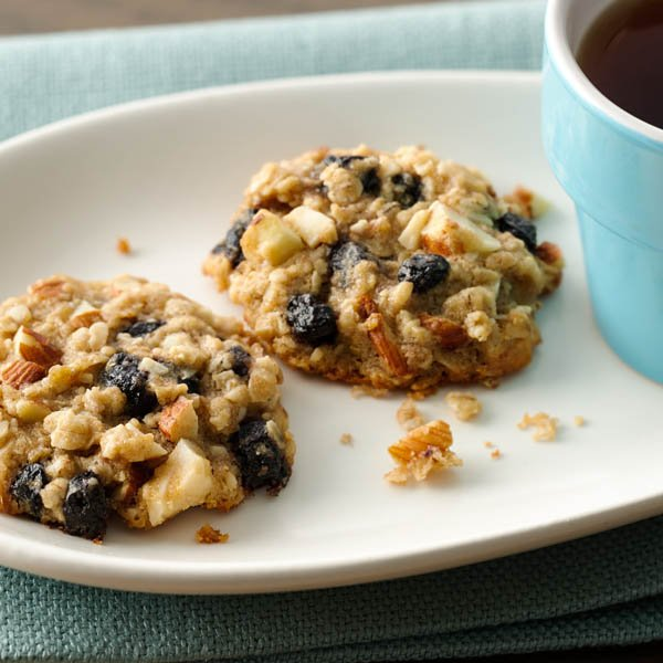 Almond Blueberry Breakfast Cookies AD