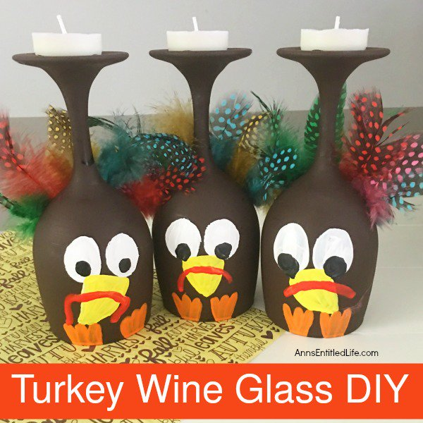 Turkey Wine Glass DIY crafts diy thanksgiving