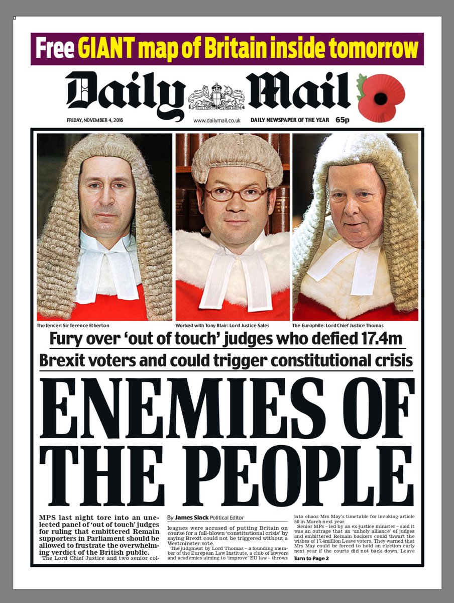 Image result for enemies of the people daily mail