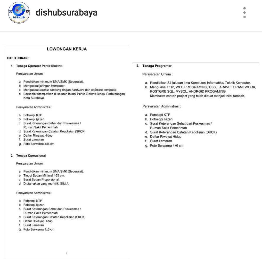 Humas Kota Surabaya On Twitter Dishub Surabaya Membuka