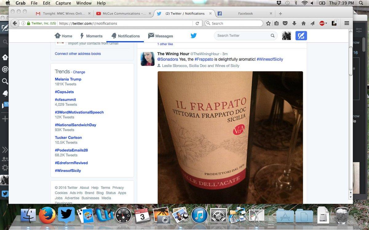 Now we are trending! #WinesofSicily https://t.co/Lzt75SVnKo