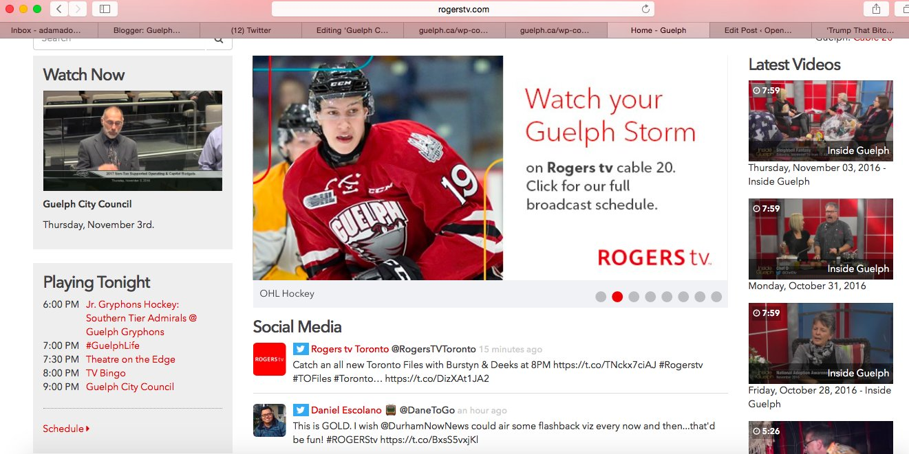FYI: Apparently, Rogers Guelph is live-streaming the meeting. Doesn't start on cable till 9 pm. https://t.co/vtn61wJmCj