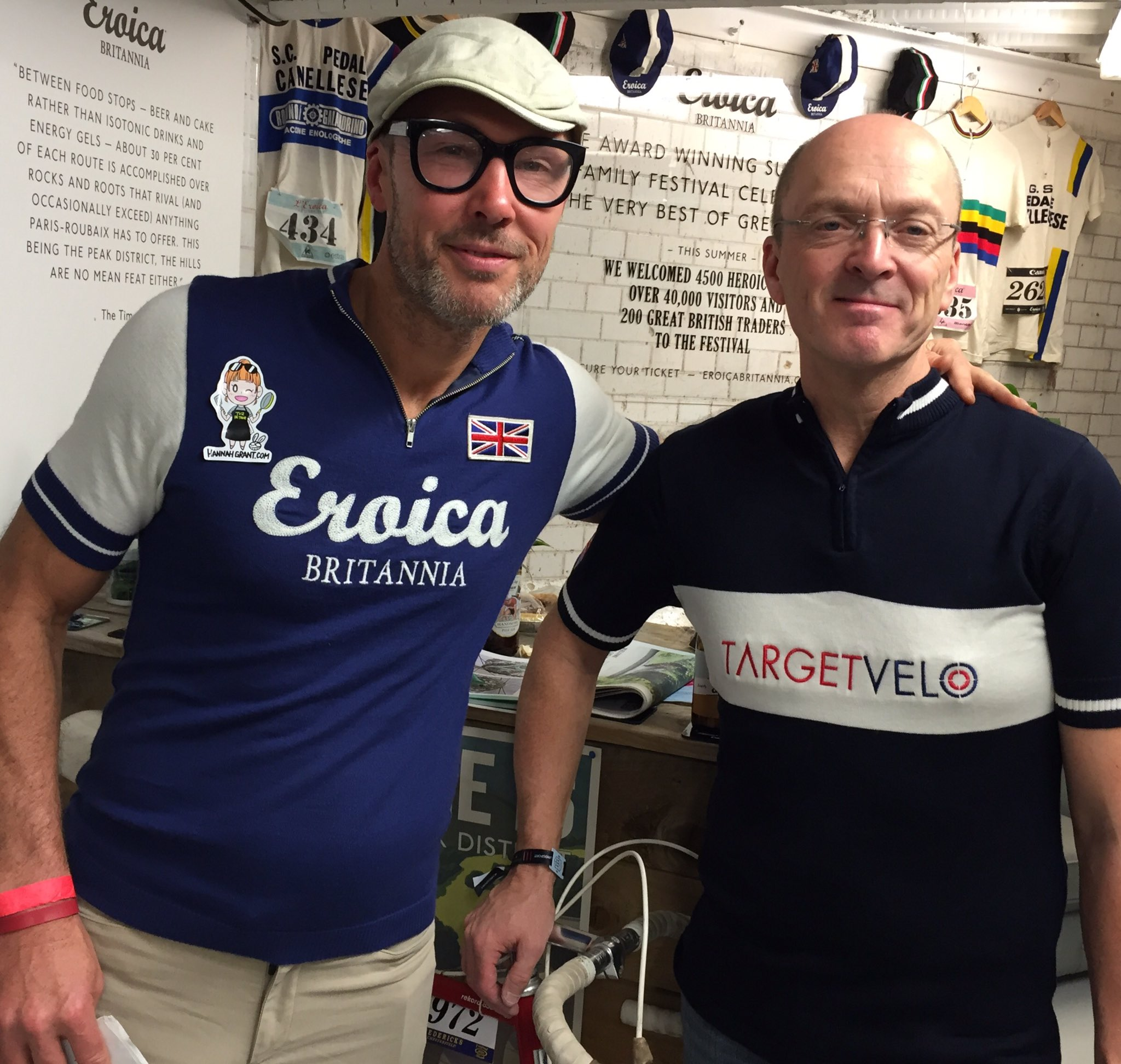 Nice to talk to the guys from #eroicabritannia at #Rouleurclassic #London #cycling #GCN https://t.co/NMmJxxYu3P