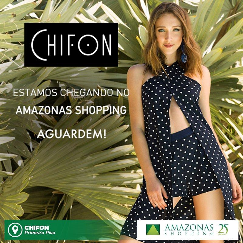 Já pode ir avisando as amigas e programando o encontro na inauguração da #Chifon, aqui no Amazonas Shopping. É dia 10 de novembro! #aguarde https://t.co/lZYVYdaUQA