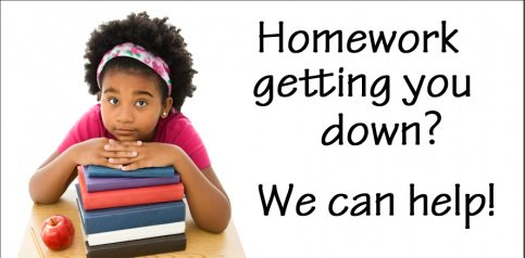 Homework help from the library in person and online