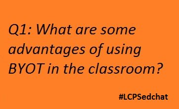 "#lcpsedchat Let's start it up! Please use ""A1"" in your answer Tweet. https://t.co/0lpUQ9CQtO"